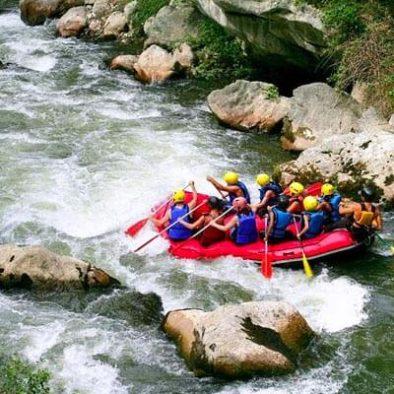 Wildwasser-Rafting in Kitulgala