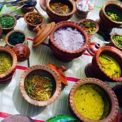Authentisches Sri Lanka Mittagessen