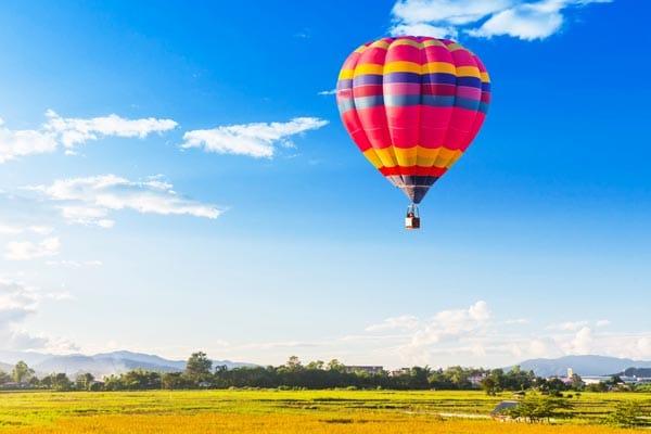 Heisluftballon Tagesausflug